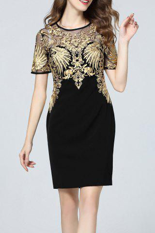 Online Gold Threaded Embroidered Dress