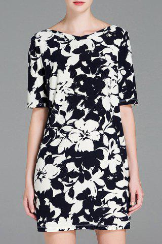 Buy Floral Print Half Sleeve Bodycon Dress