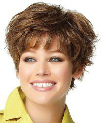 Fluffy Synthetic Full Bang Short Wig For Women