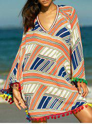 Stylish Women's Ethnic Print Cover-Up -
