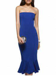 Strapless Mermaid Bodycon Cocktail Dress