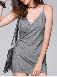 Stylish Spaghetti Strap Pure Color Romper For Women -