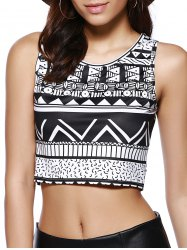 Tribal Print Chic Femmes Tank Top - Multicolore