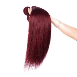 Fashion 1 Pcs Women's Brick Red Silky Straight 6A Virgin Brazilian Hair Weave