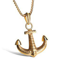 Vintage Alloy Anchor Necklace Jewelry For Men -