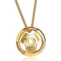 Vintage Alloy Round Necklace For Men