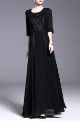 Embroidery Patched Dress -