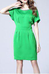 OL Style Pure Color Dress -