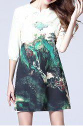 Half Sleeve Printed Dress -
