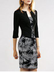 Belted Firework Print Sheath Dress