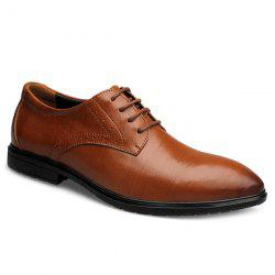Trendy Pointed Toe and Tie Up Design Formal Shoes For Men -