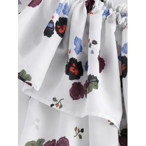 Stylish Off The Shoulder Floral Print Crop Top For Women -