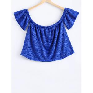 Stylish Off The Shoulder Lace Overlay Crop Top For Women -