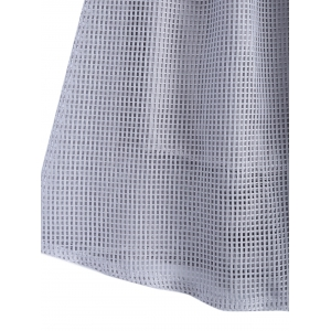 Elegant Solid Color Zipper Fly Mesh Skirt For Women -