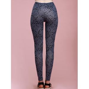 Stylish High-Waisted Stretchy Ornate Printed Skinny Slimming Women's Pants -