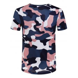 Slimming Round Collar Camo T-Shirt For Men -