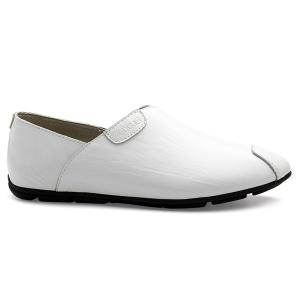 Simple PU Leather and Solid Color Design Loafers For Men -