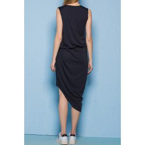 Asymmetric Front Twist Dress -