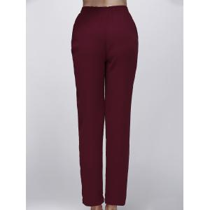 Fashionable High-Waisted Drawstring Pure Color Women's Pants -