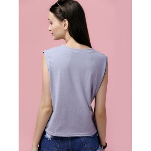 Fashionable Round Neck Print Top For Women -