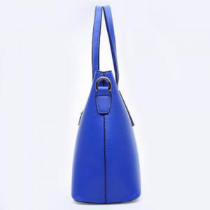 Concise Solid Colour and Metal Design Tote Bag For Women -