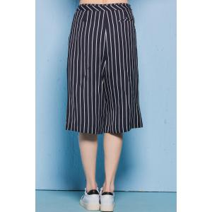 Loose Striped Capri Pants -