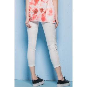Twin Pocket Skinny Ninth Pants -