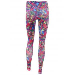 Trendy High Stretchy Printed Multicolor Women's Yoga Pants -