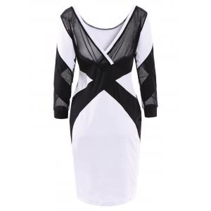 Backless Bandage Bodycon Midi Dress -
