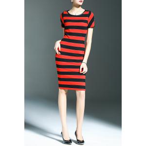 Sheath Striped Dress -