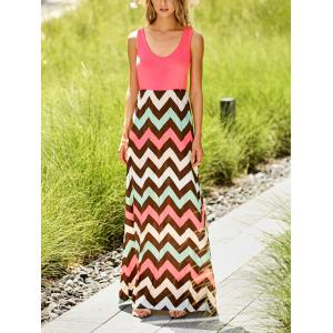 Scoop Neck Sleeveless Striped Women's Sundress