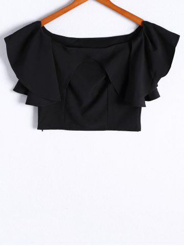 Trendy Fashionable Off-The-Shoulder Flounce Short Sleeves Top For Women