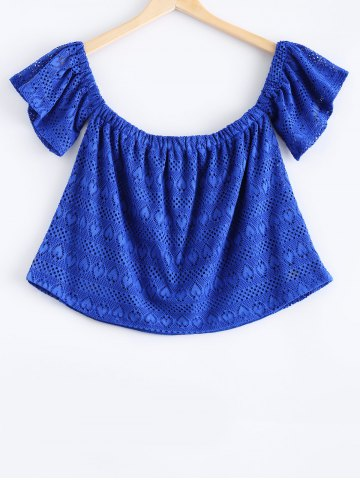 Shop Stylish Off The Shoulder Lace Overlay Crop Top For Women