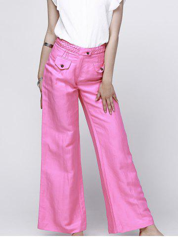 Hot Fashionable High-Waisted Solid Color Women's Wide Leg Pants