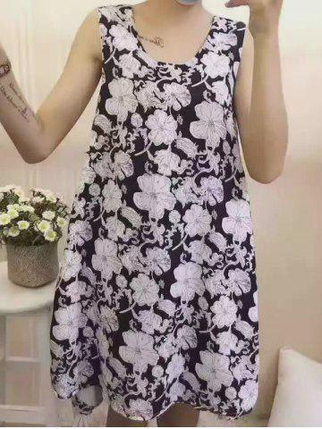Buy Stylish Scoop Neck Floral Print Dress For Women