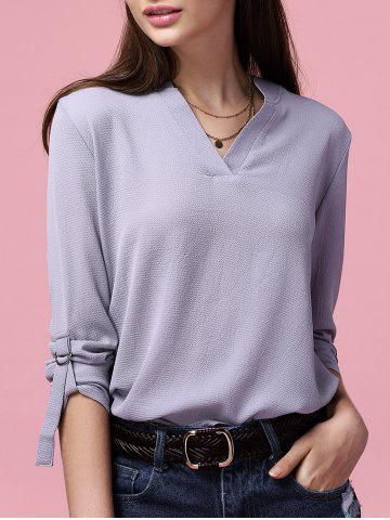 Shop Simple Style V-Neck Long Sleeve Women's Chiffon Blouse