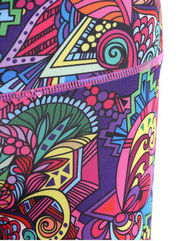 Outfit Trendy High Stretchy Printed Multicolor Women's Yoga Pants - XL COLORFUL Mobile