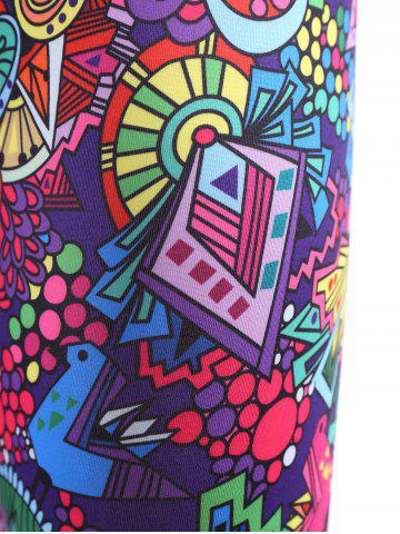 Online Trendy High Stretchy Printed Multicolor Women's Yoga Pants - XL COLORFUL Mobile