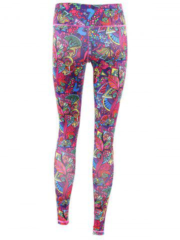 Shops Trendy High Stretchy Printed Multicolor Women's Yoga Pants - XL COLORFUL Mobile