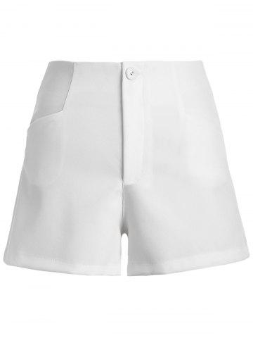 Affordable Casual Solid Color Zipper Fly Chino Shorts