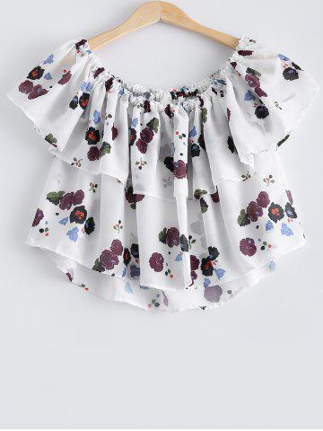 Trendy Stylish Off The Shoulder Floral Print Crop Top For Women
