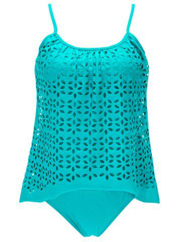 Fancy Spaghetti Strap Crochet Padded Tankini Sets