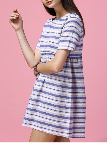 Affordable Striped Smock Mini Dress