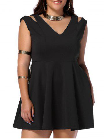 Outfits Plus Size Cut Out V Neck Dress