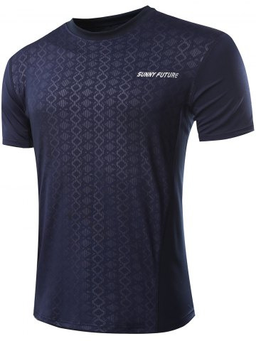 Store Casual Printed Gym T-Shirt For Men CADETBLUE XL