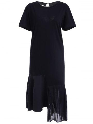 Shop Casual Asymmetric Pleated Cut Out T-Shirt Dress For Women