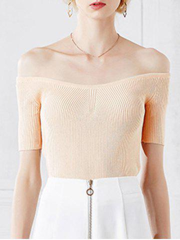 Shop Stylish Off The Shoulder Short Sleeve Knitwear For Women