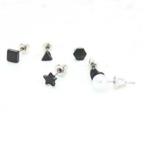 Outfits A Suit of Cute Triangle Star Faux Pearl Earrings For Women