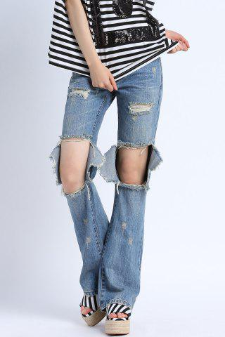 New Embroidery Broken Hole Jeans