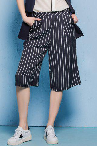Fancy Loose Striped Capri Pants